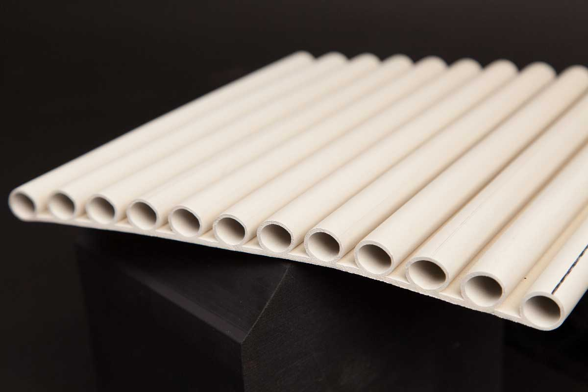 white rubber extrusion image